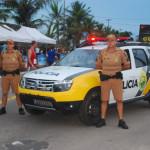 Policiamento garante tranquilidade nas praias